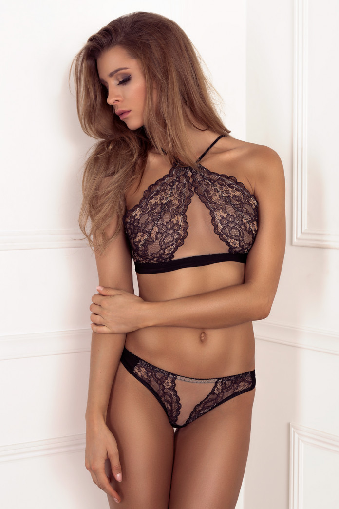 Sweetheart Lace Front Thong