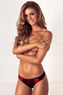 Red Bow Thong