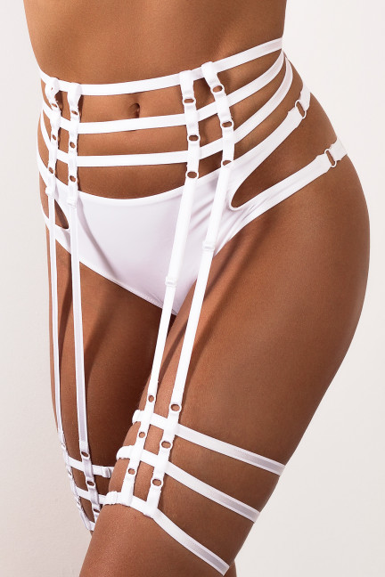 The Perfect White Strappy Garter