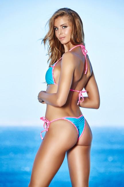 Turquoise Polkadot Bikini