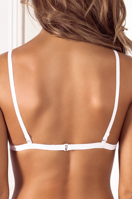 White Double Front Strap Bralette