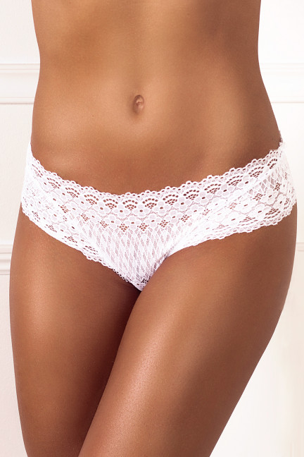 Cheeky White Flower Thong