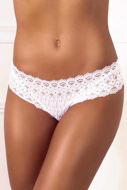 Cheeky White Flower Thong