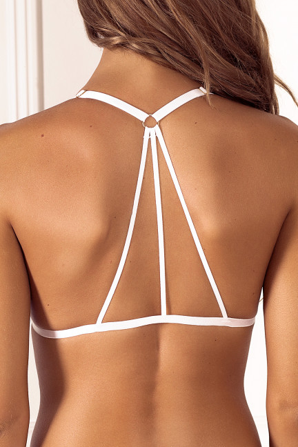 White Triangle Back Bralette