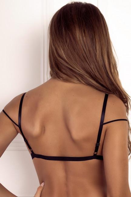 Black Double Strap Bralette