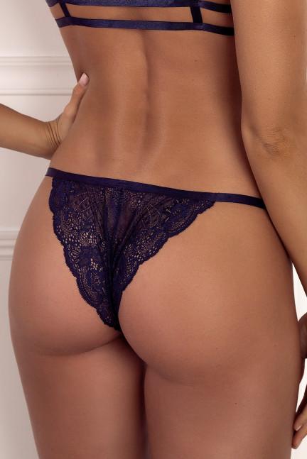Navy Side Strap Panty