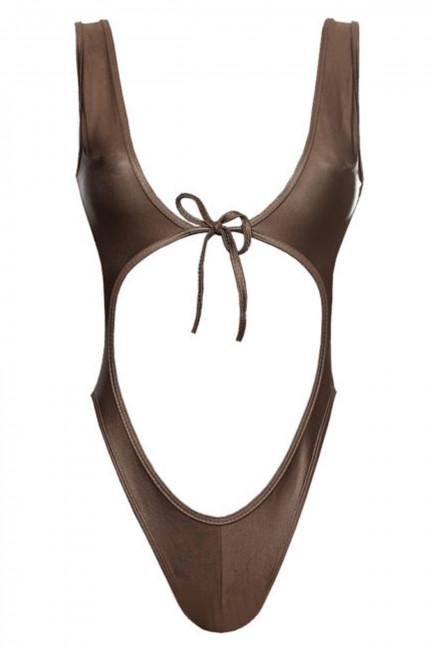 Bronze Open Front Swimsuit