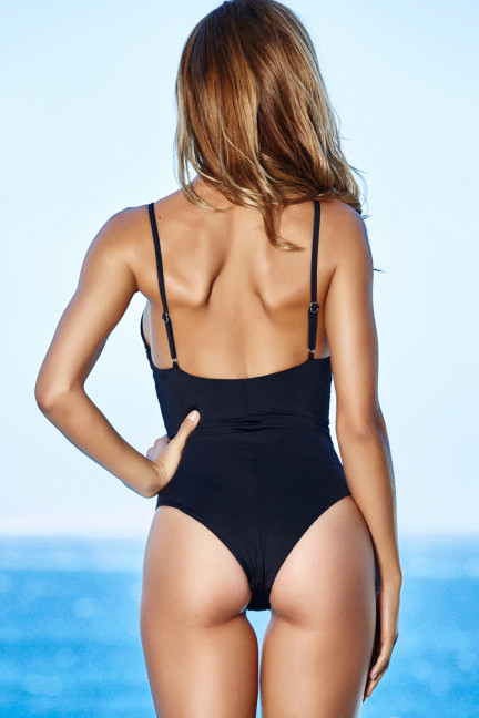Black Front Cage Swimsuit